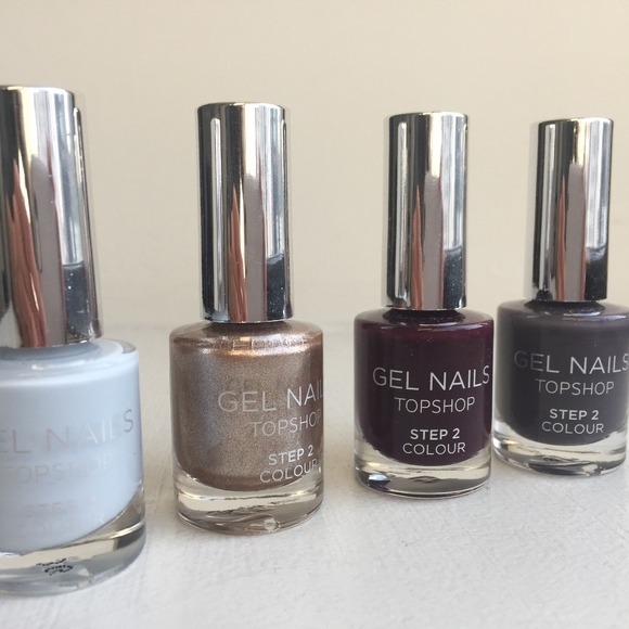 Topshop Makeup | No Uv Gel Nail Polish Bundle New | Poshmark